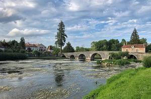 Riverfront and Bridge - Bourdeilles, France - Copyright 2019 Ralph Velasco